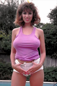 Sexy Teasing Classic Christy Canyon In The Backyard