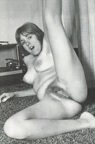 Flexible Furry Pussy Vintage Nude On The Floor